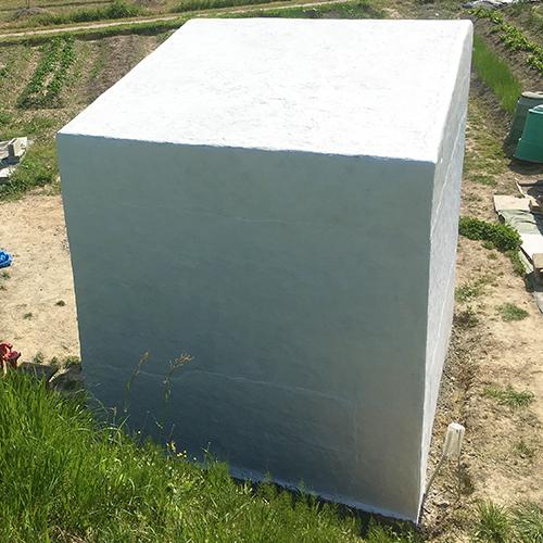 一人で作るブロック小屋⑩ ~ペイント作業~⑧
