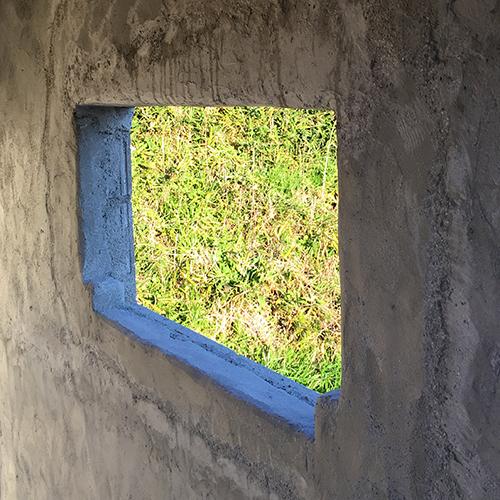 一人で作るブロック小屋⑧ ~モルタル壁塗り左官作業~⑧