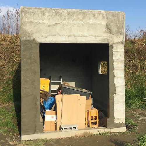 一人で作るブロック小屋⑧ ~モルタル壁塗り左官作業~⑨