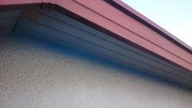 軒天井と波風板の塗装03