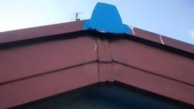 軒天井と波風板の塗装04