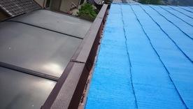 軒天井と波風板の塗装10