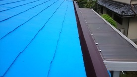 軒天井と波風板の塗装11