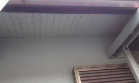 軒天井と波風板の塗装13
