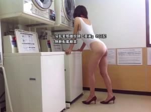 白穴開きレオタード②