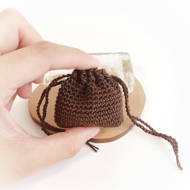 手編み雑貨 ハナハンド レース ミニサイズ 巾着