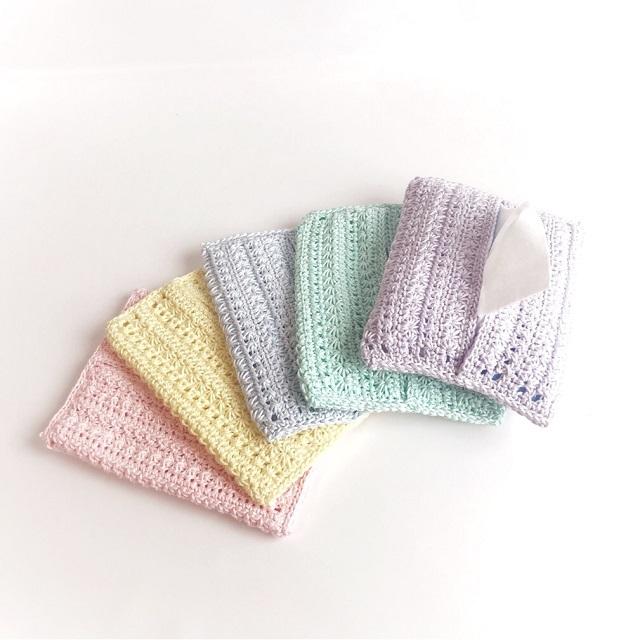 #手編み雑貨 #はなはんど #ティッシュケース #ティッシュカバー #レースケース