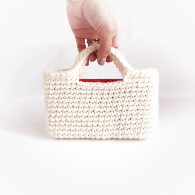 手編み雑貨 HanahanD スマホ iPhone バッグ ケース 冬糸