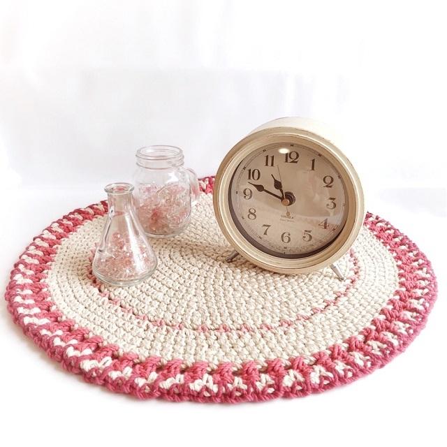 手編み雑貨 はなはんど フロアマット 手編みコットン