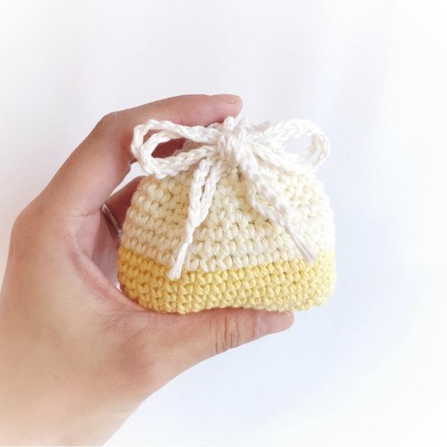 手編み雑貨 HanahanD オーガニックコットン 巾着