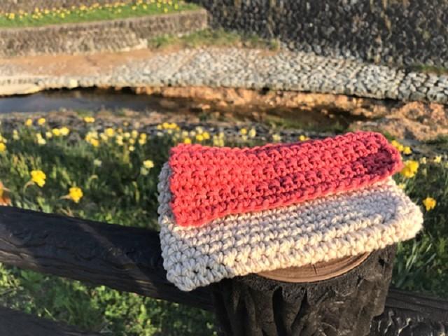 手編み雑貨 はなはんど 桜 スマホケース