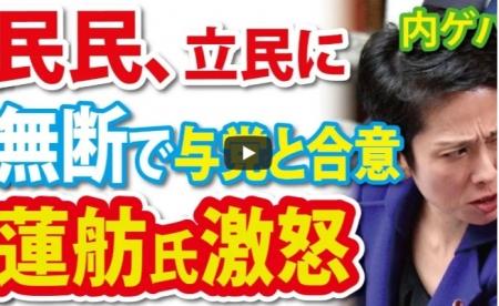 【動画】玉木党、他野党に相談なく合意し、蓮舫氏ブチギレ [嫌韓ちゃんねる ~日本の未来のために~ 記事No20837