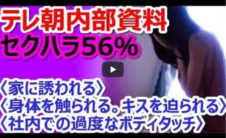 【動画】テレビ朝日内部資料「女性社員の56%がセクハラ被害」の衝撃