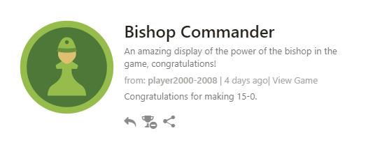 Bishop Commanderのトロフィーをゲット