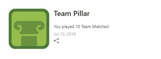 チーム戦で10回プレイするともらえる