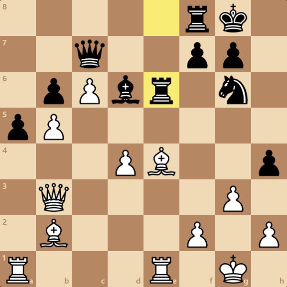.Qxe6 fxe6 Bxg6という手も考えられるが