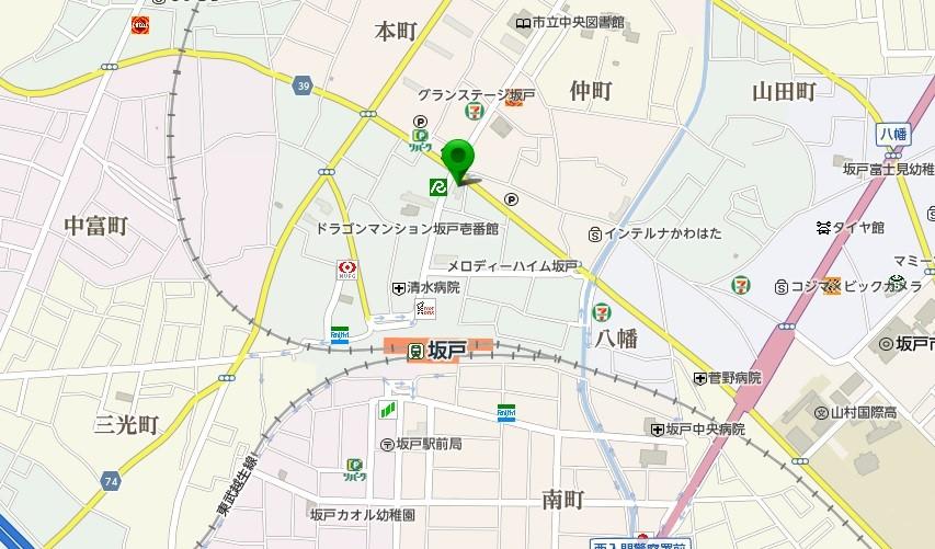 坂戸駅前集会施設の地図
