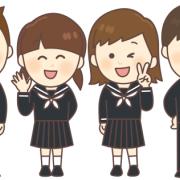 仲良し、笑顔の中学生4人組