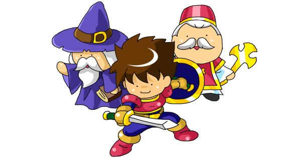 RPGのキャラクターたち「勇者・魔法使い・僧侶