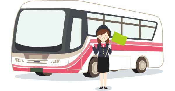 観光バスとガイドさん