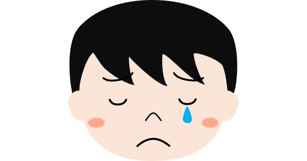 泣いている男の子