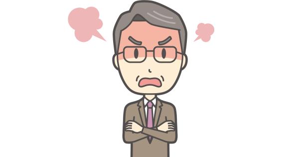 激しく怒っている校長先生