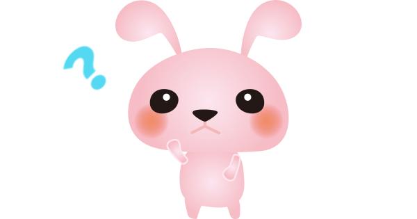 悩んでいるウサギ