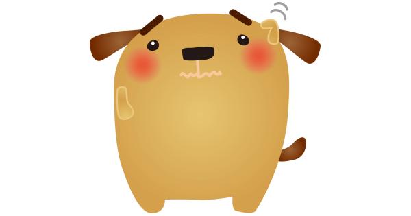 悩んでいる犬クン