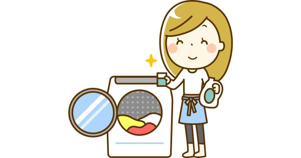 お洗濯するお母さん