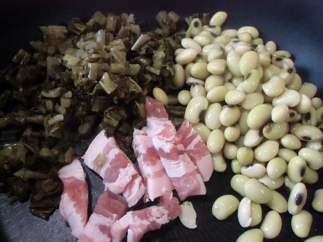 大豆に漬物