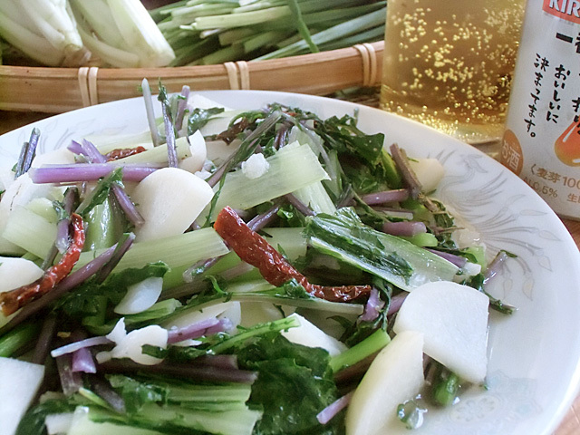 野菜でお昼ごはん