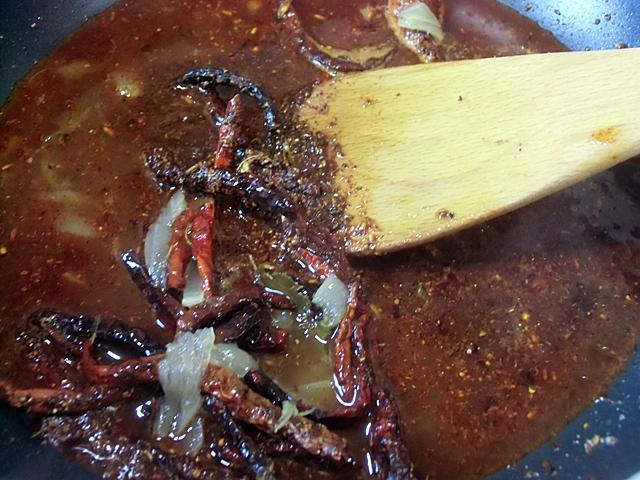 スープで溶く