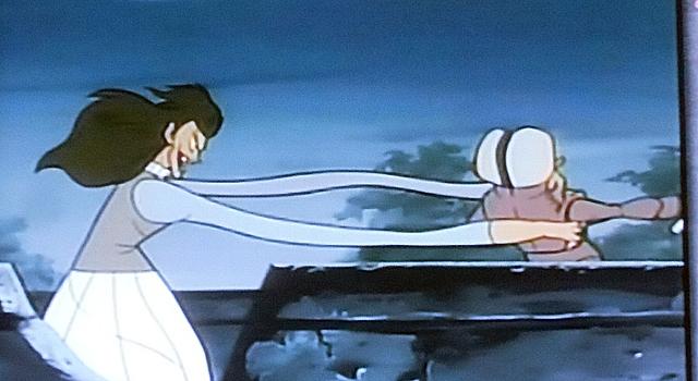 ベムと女妖怪の闘い