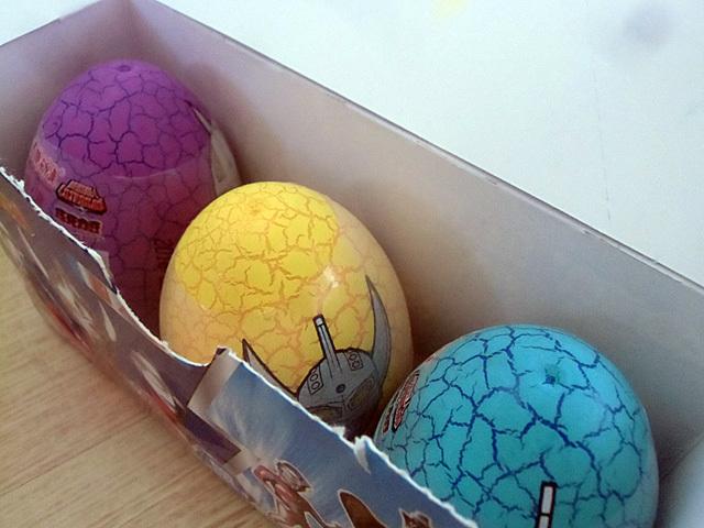 中には卵が三つ