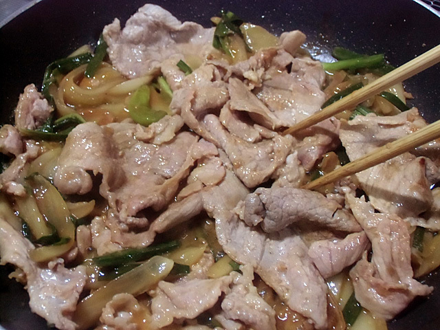 肉とニラの焼肉