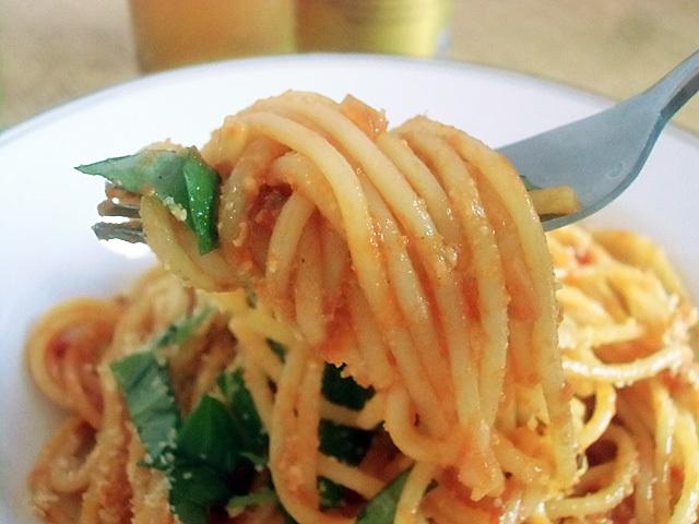 肉ゼロのスパゲティです