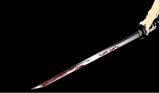 血が滴る剣