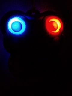 ライトアップ カエル守り♪