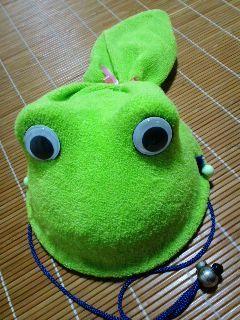 カエル帽子 尻尾付き?