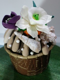 モリクラ粘土のお店K水仙カップケーキ
