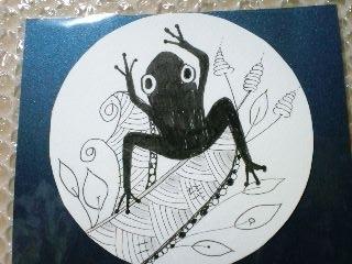 ゼンタングル 蛙様