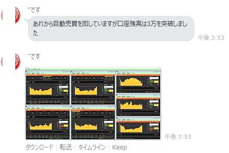 LINE3万突破