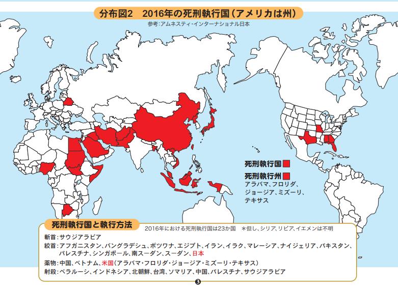 死刑執行国2016年