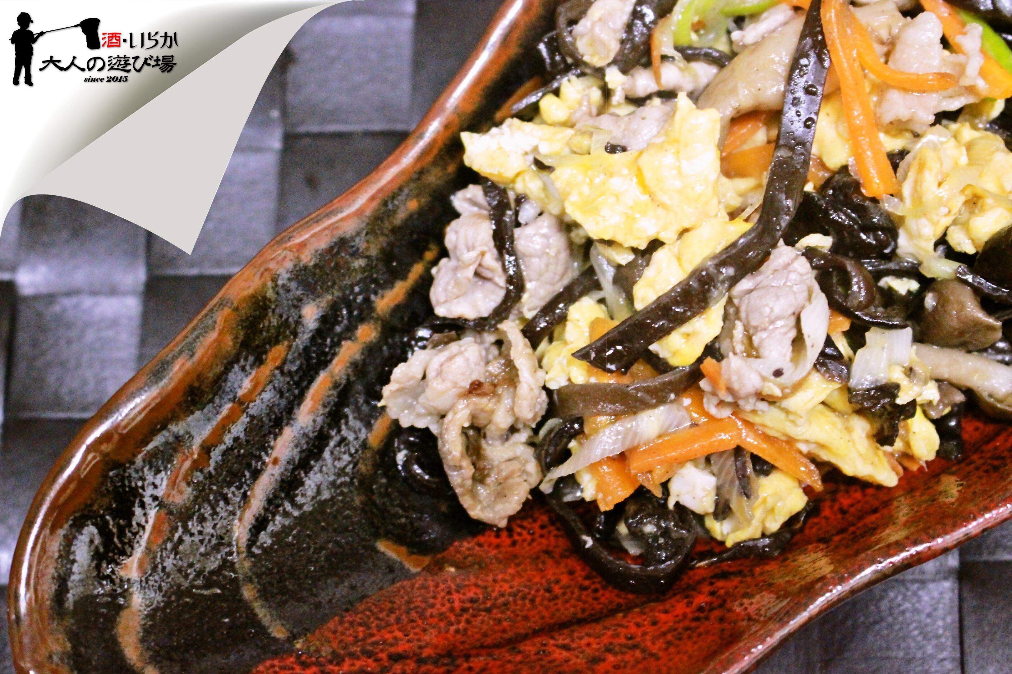 きくらげと豚の卵炒め(木須肉)01