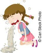 女の子-嘔吐-から-食中毒-絵_csp34135696