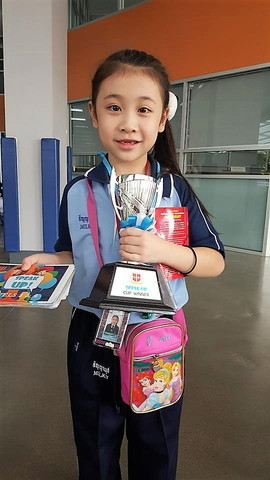 Milky get speak up cup winner at school