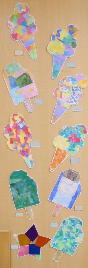 絵画教室アイスクリーム20181