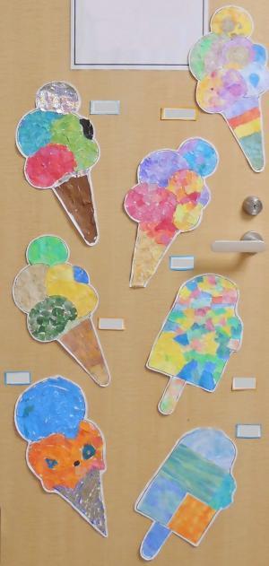 絵画教室アイスクリーム20182