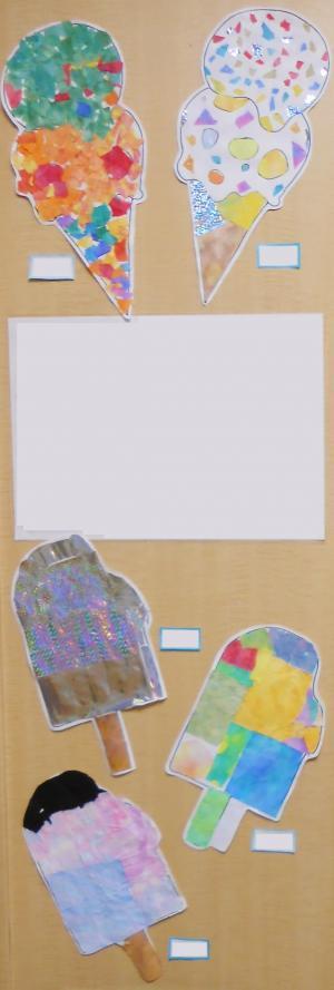 絵画教室アイスクリーム20183