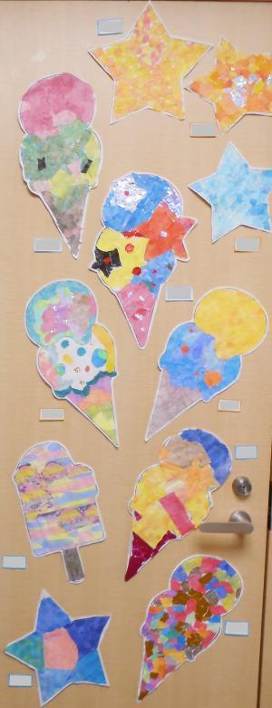 絵画教室アイスクリーム20184
